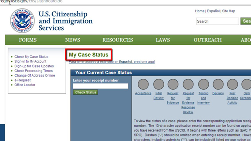 The immigration website for the US government
