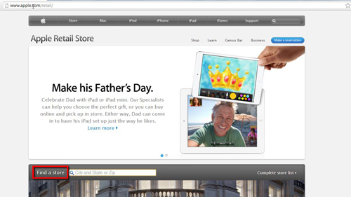 The apple store finder