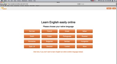 select your native language