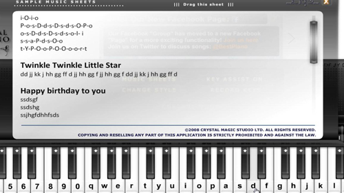 Songs you can play using your keyboard