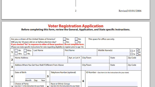 The form that you need to fill out on paper