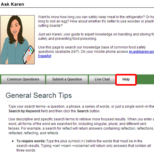 Learn about general search tips