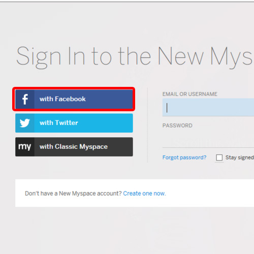 Sign in with facebook option