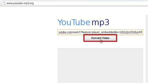 Converting the video to an Mp3
