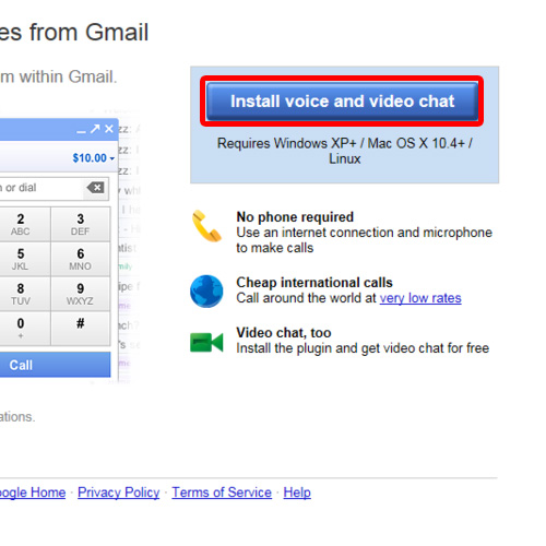 Click on the install voice and video chat button