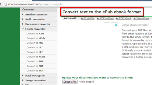 The site where you can convert your text