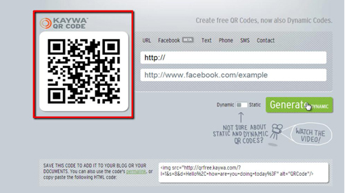 The successfully generated QR code