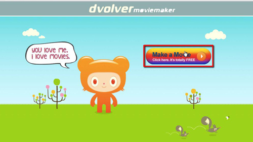 The dvolver movie maker app