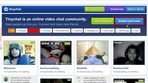 Starting an instant chat room