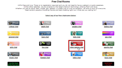 Locating a chat room you are interested in