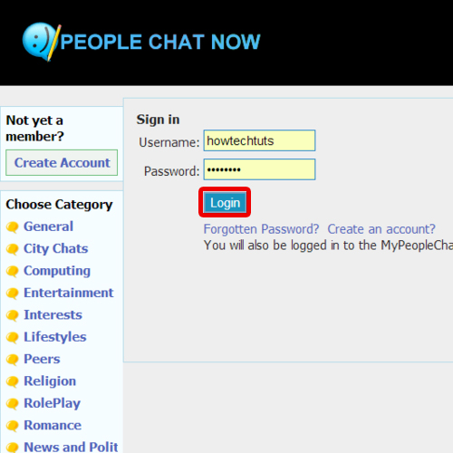 Login with the new account