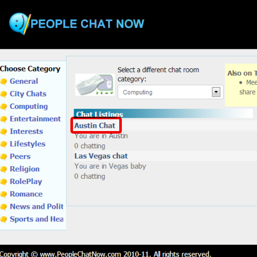 Open a chat room