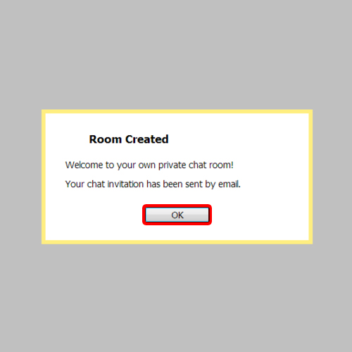 Go to the newly created chat room
