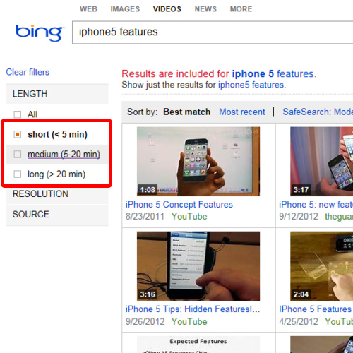 Apply filters to narrow down the search results