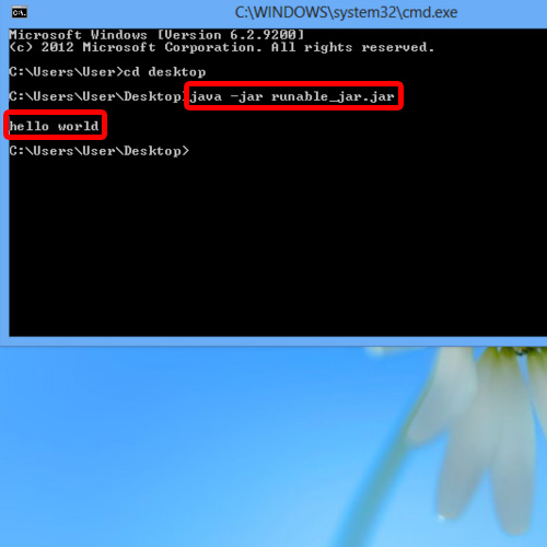 Command to run jar file
