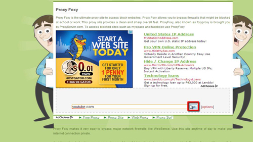 Using a proxy as a more secure way of browsing