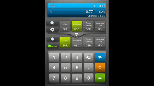 The main interface for the converter