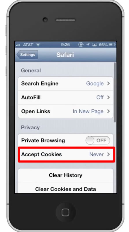 how to turn cookies on iphone how to enable cookies on iphone howtech 7732