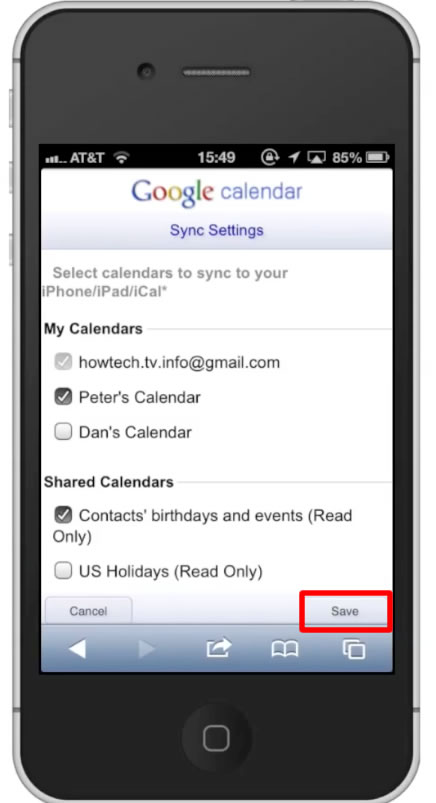 How to Sync Google Calendar with iPhone | HowTech
