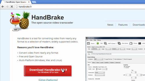 Downloading HandBrake