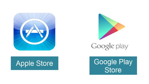 The two main stores for phone apps