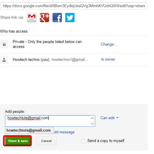 Share Files with the help of Google Drive