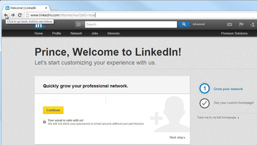 Get Access the LinkedIn