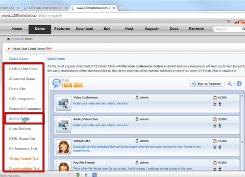 Dashboard Chat Room