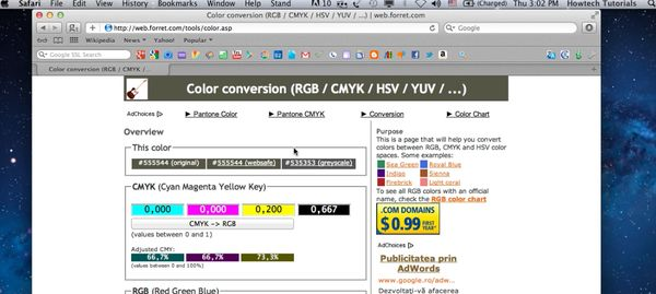 choose color converter tool