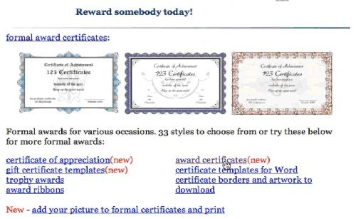 choose template from www.123certificates.com