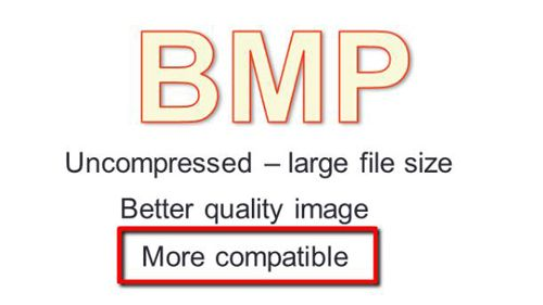 The advantages of the BMP format