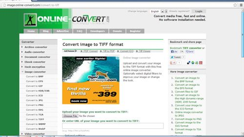 Navigating to the conversion website