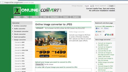 The conversion website