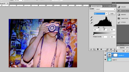 Tweaking the images colors to get it just right