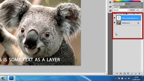 The layers of a Photoshop document