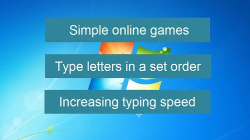 What typing games are for