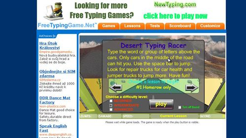 Another typing game option