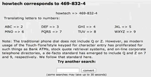 we can also convert word into phone number