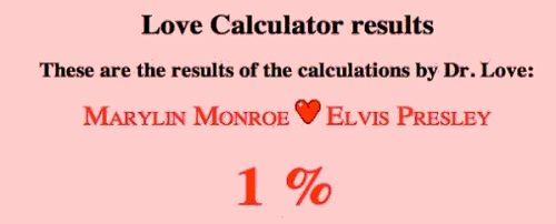 Love calculator helps you to falling love with wrong people