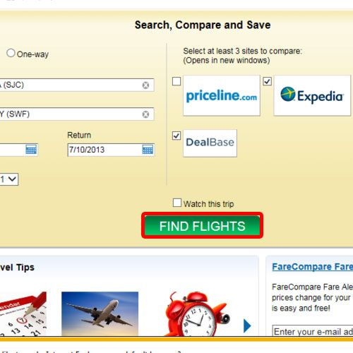 Find flights as per your search criteria