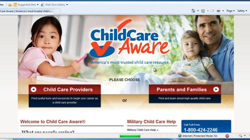 The child care website we will use