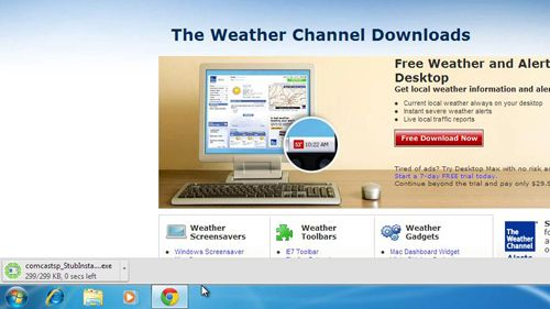 Downloading the weather application