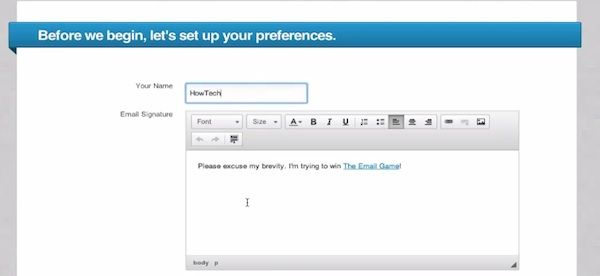 Choose your name and email signature