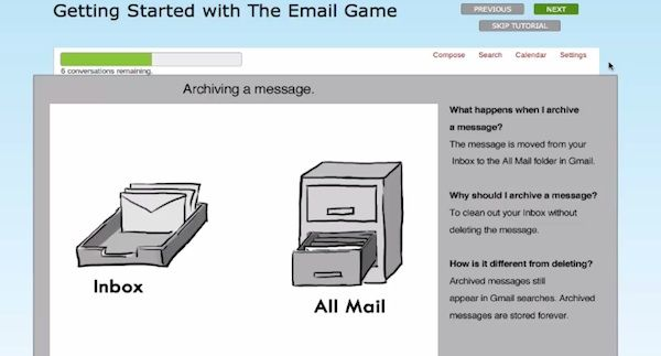 email game rules example