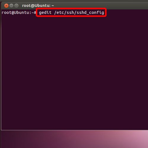 open the sshd_config file