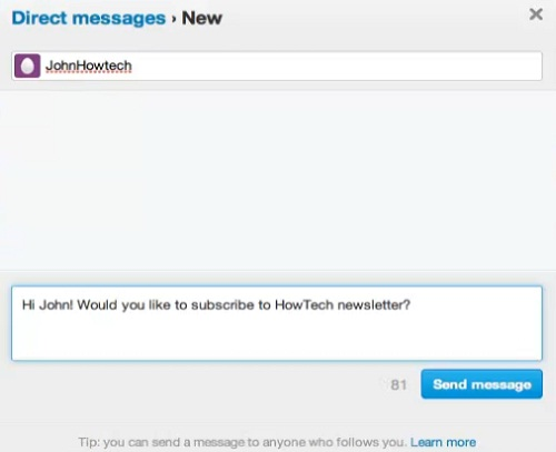 Now you see direct messages