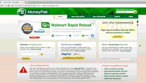 Go to www.moneypak.com