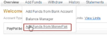Enter the number of Moneypak