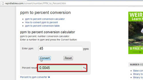 The results of your conversion