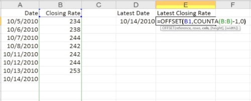 type the formula in Excel cell